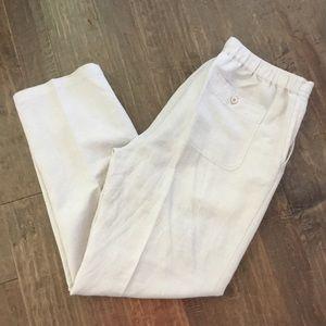 Cubavera Linen/Rayon Drawstring Pants, Size L